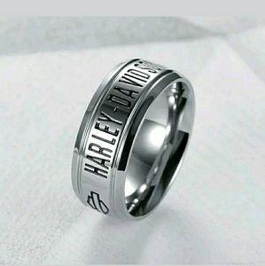 Harley Davidson Ring  - 8MM Band - Size 8-13